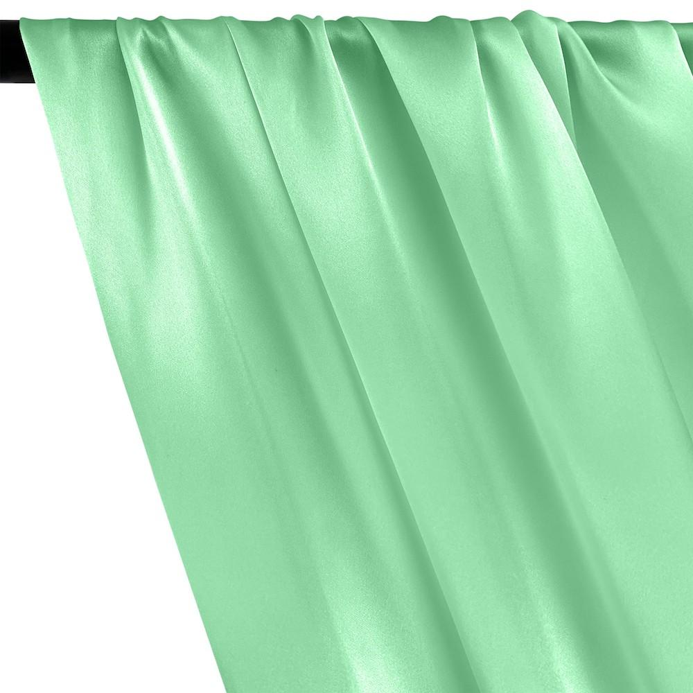 Silk Charmeuse Rod Pocket Curtains - Seafoam