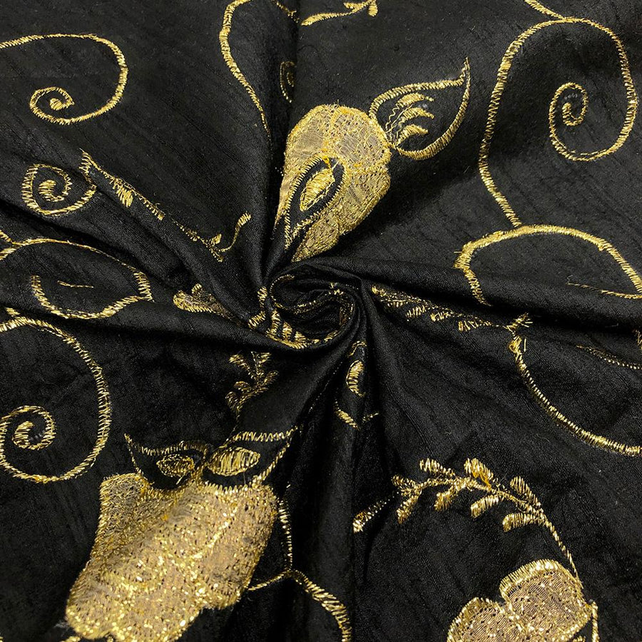 "Silk 44"" Metallic Floral Embroidery"
