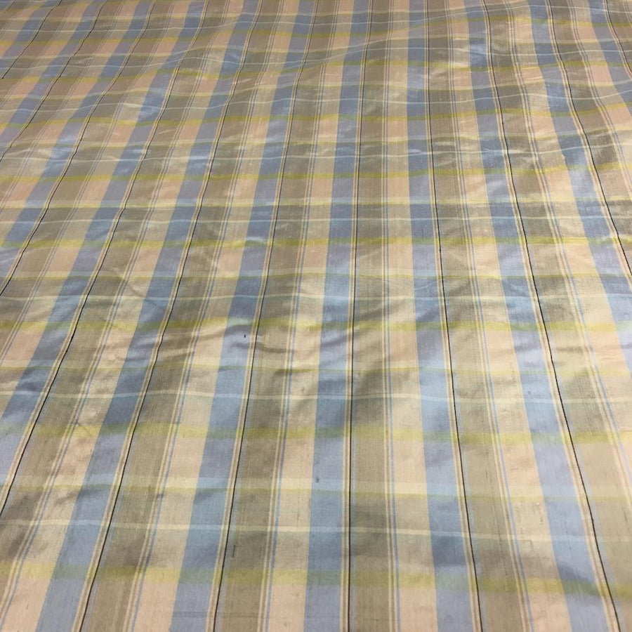 Silk Shantung Plaid