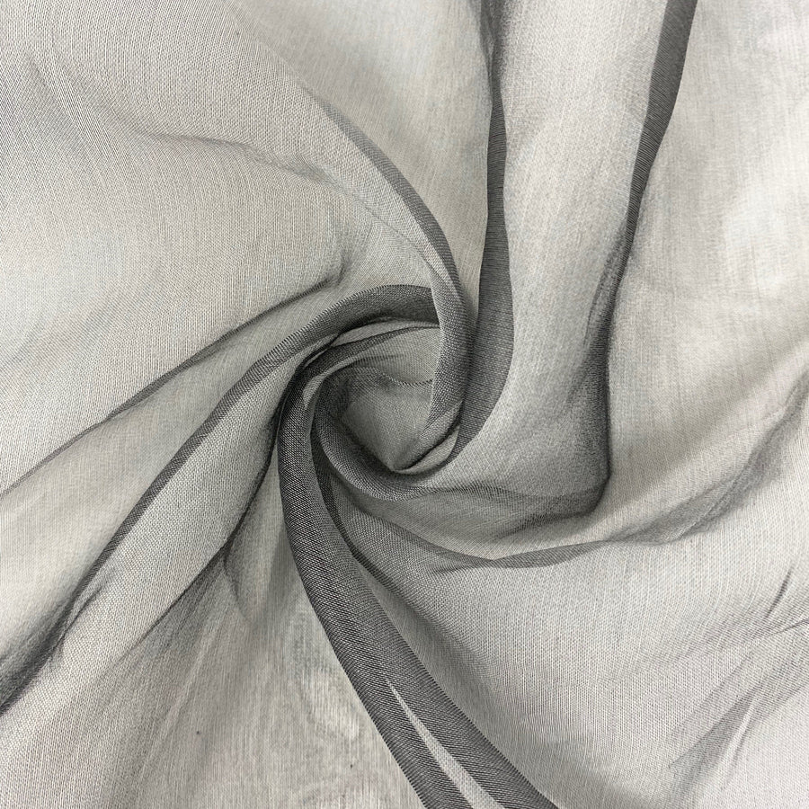 Grey Silk Organza