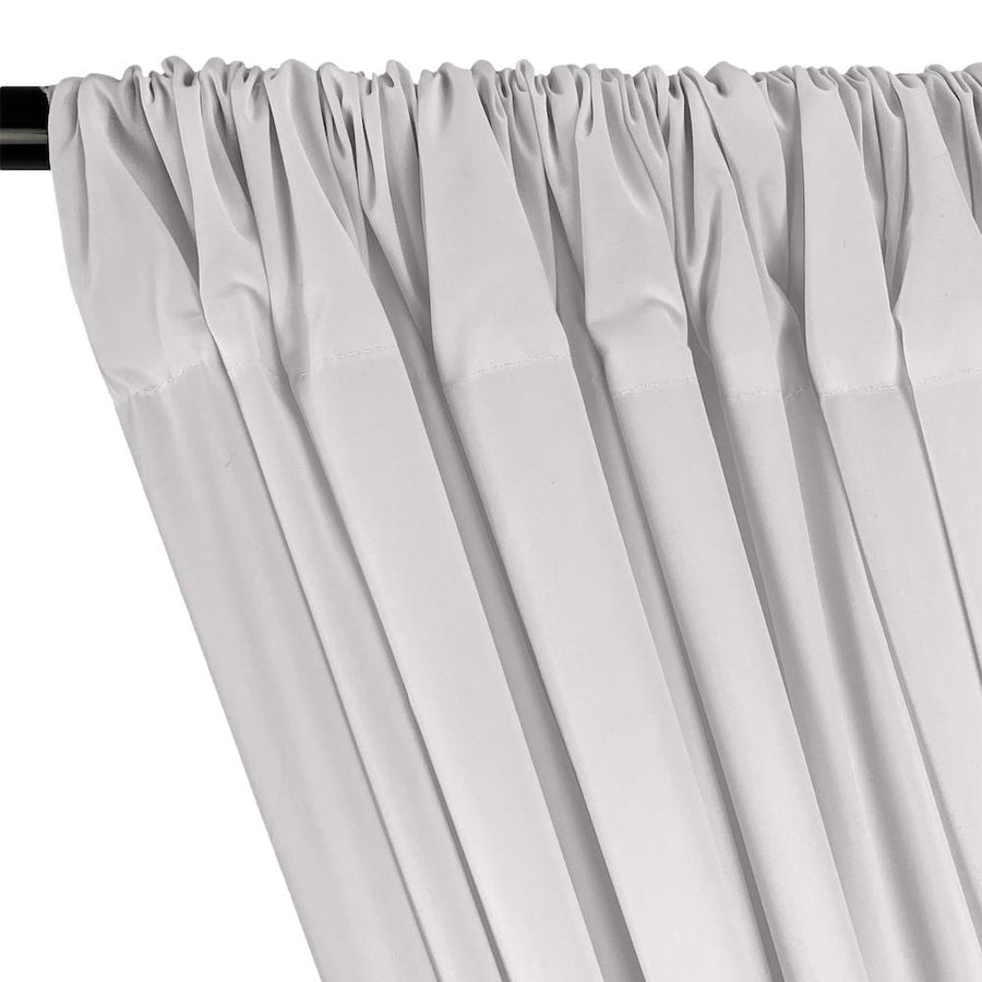 100% Cotton Broadcloth Rod Pocket Curtains - Silver