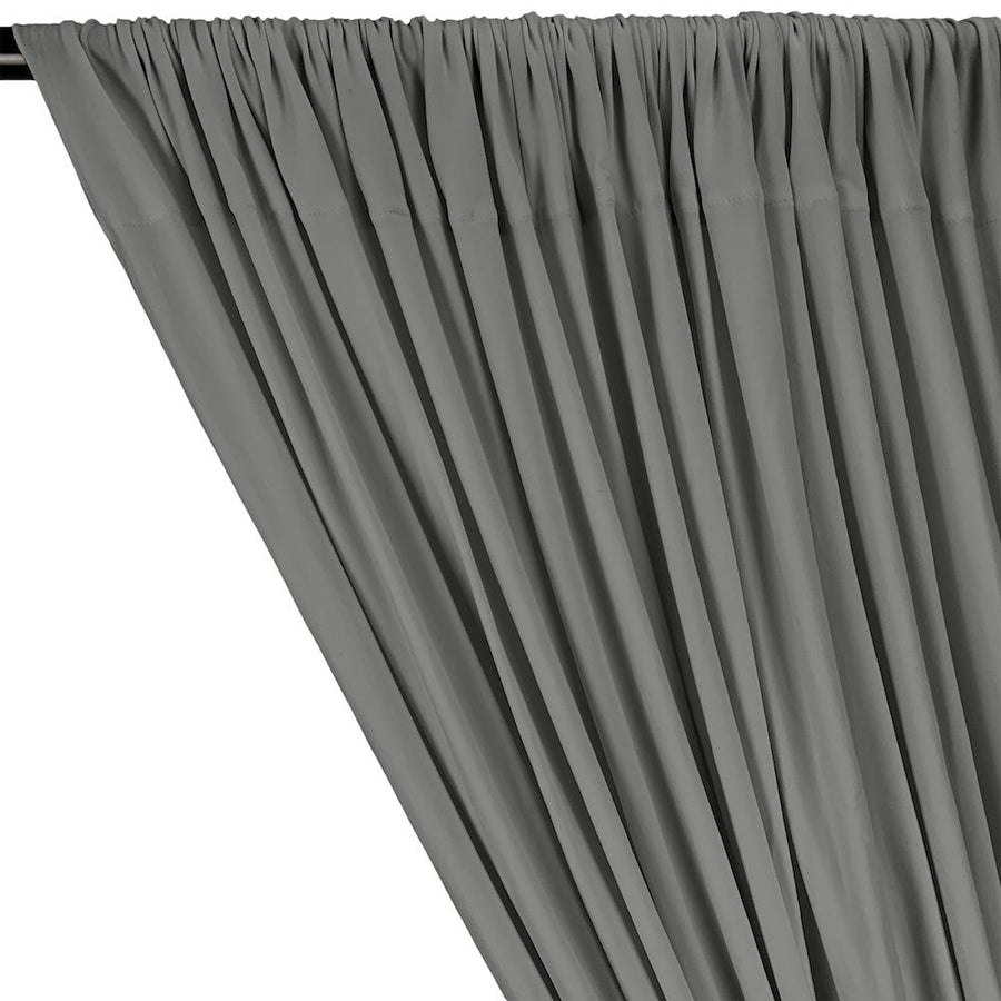 DTY Double-Sided Brushed Rod Pocket Curtains - Silver