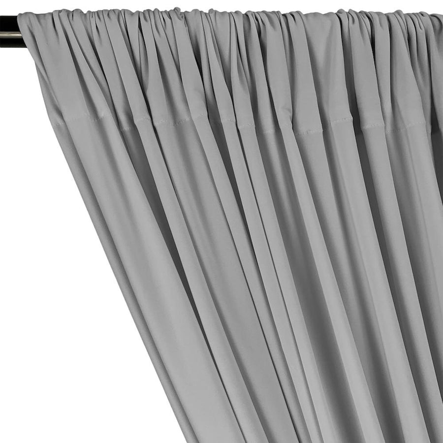 ITY Knit Stretch Jersey Rod Pocket Curtains - Silver