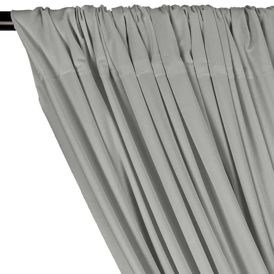 Matte Milliskin Rod Pocket Curtains - Silver