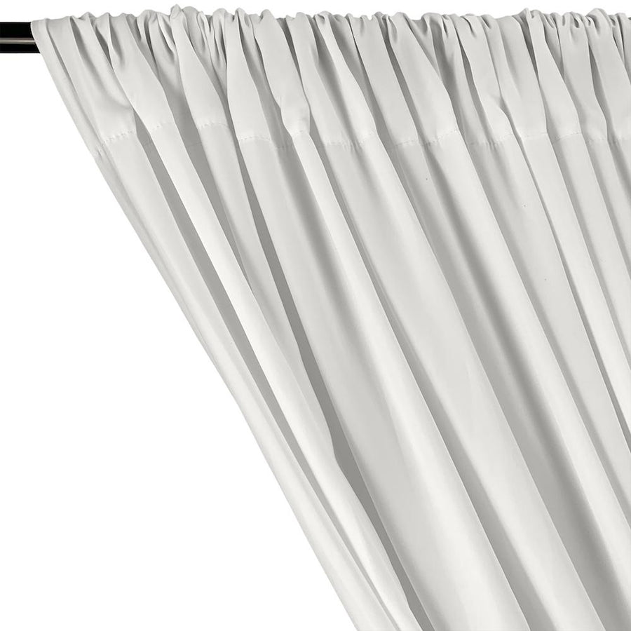 Peachskin Rod Pocket Curtains - Silver