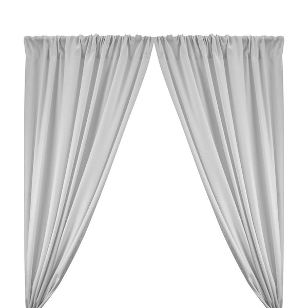 "Poplin (60"") Rod Pocket Curtains - Silver"