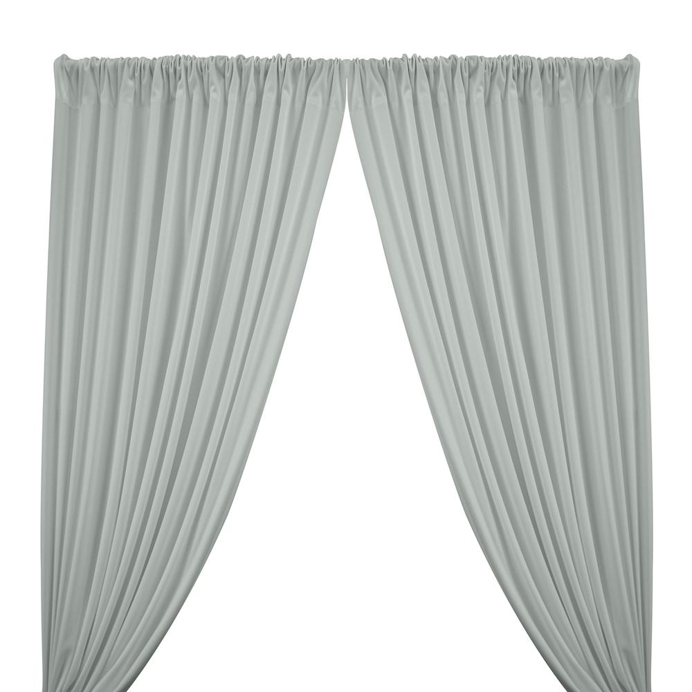 Scuba Double Knit Rod Pocket Curtains -  Silver