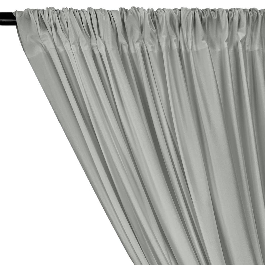 Shiny Milliskin Rod Pocket Curtains - Silver