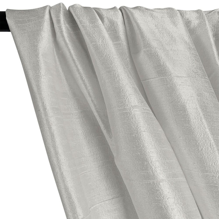 "Silk Dupioni (54"") Rod Pocket Curtains - Pewter"
