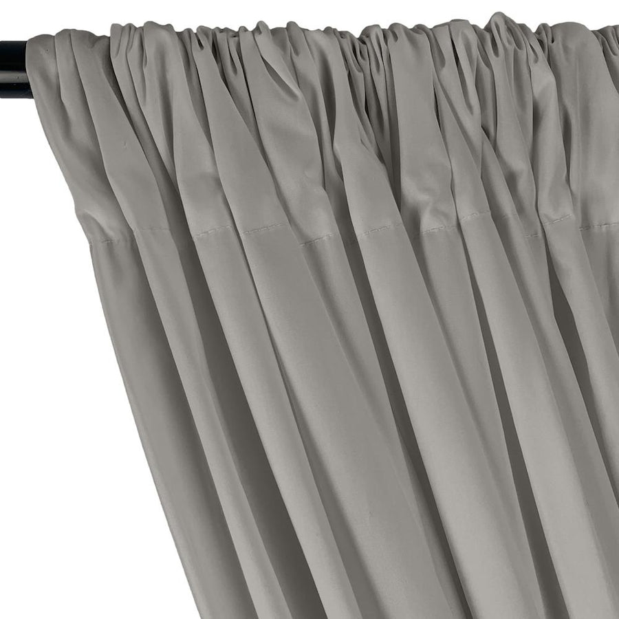Stretch Broadcloth Rod Pocket Curtains - Silver