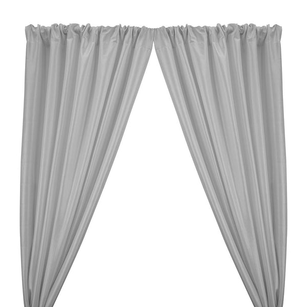 Stretch Taffeta Rod Pocket Curtains - Silver