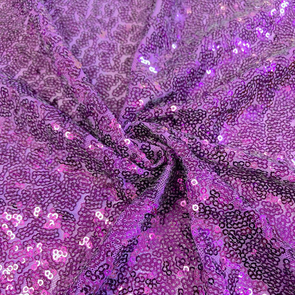 Zigzag Micro Sequins Starlight on Stretch Mesh