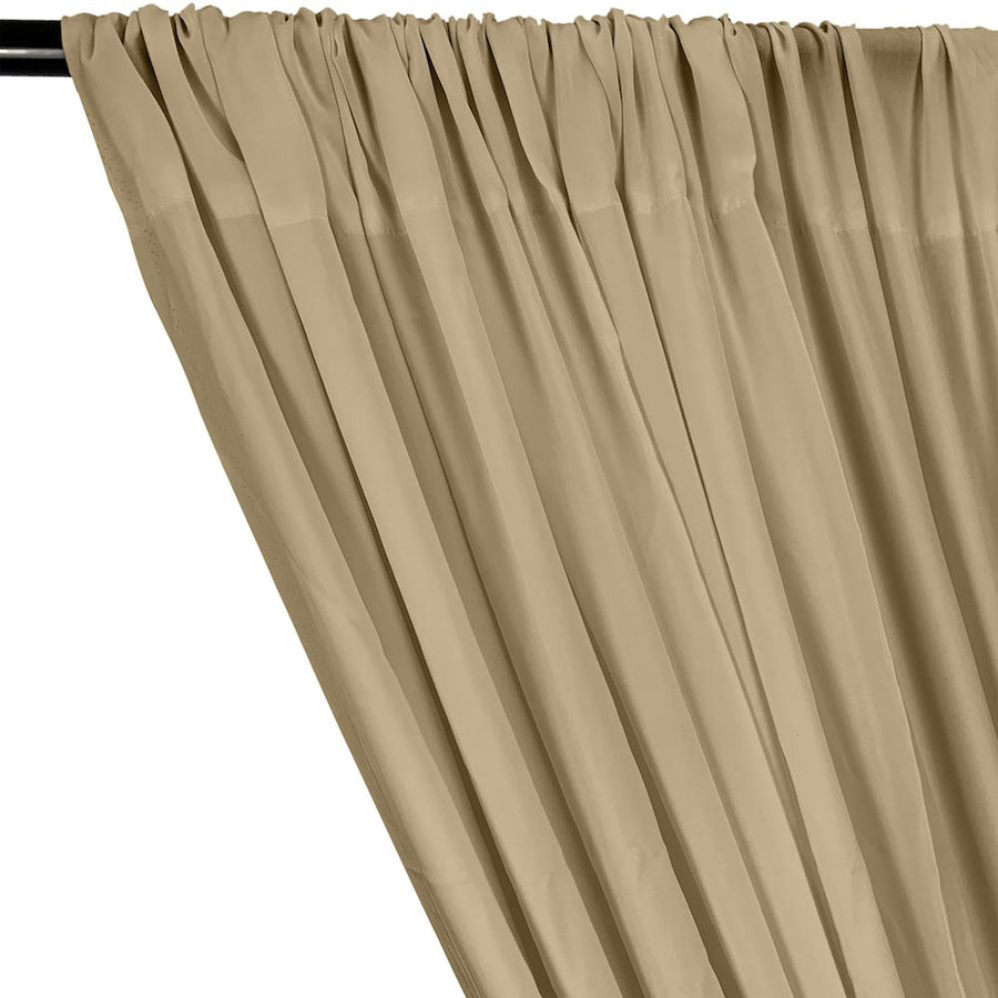 Rayon Challis Rod Pocket Curtains - Stone