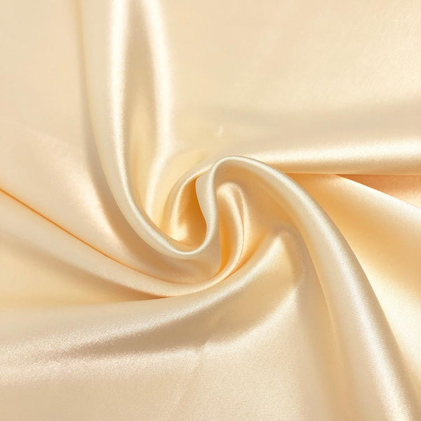 Fabric By The Yard Golden Tan Stretch Satin