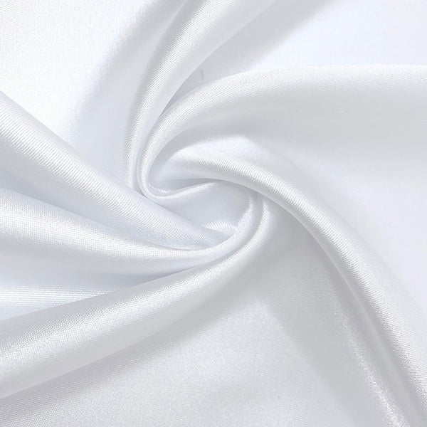Solid Light Gray Stretch Silk Satin Fabric By The Yard or Metre Width 55 inch 16 Momme