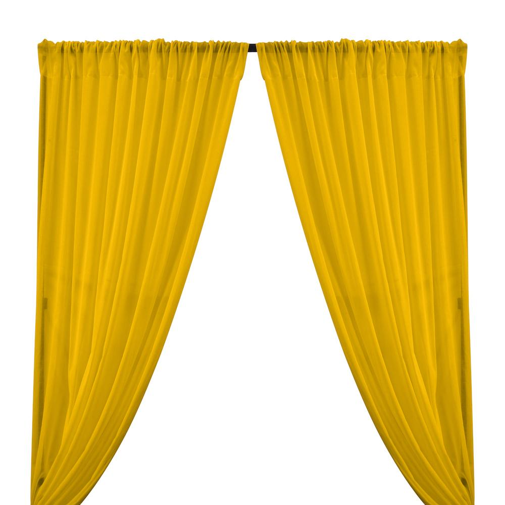 Cotton Voile Rod Pocket Curtains - Sunflower
