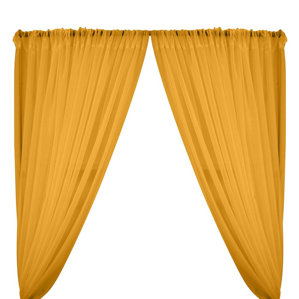 Sheer Voile Rod Pocket Curtains - Sunflower