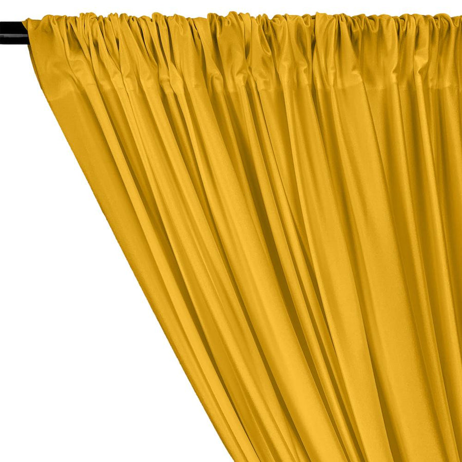 Shiny Milliskin Rod Pocket Curtains - Sunflower