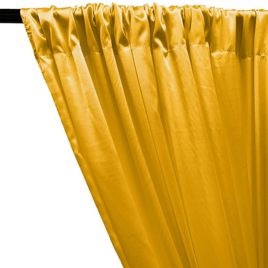 Stretch Charmeuse Satin Rod Pocket Curtains - Sunflower