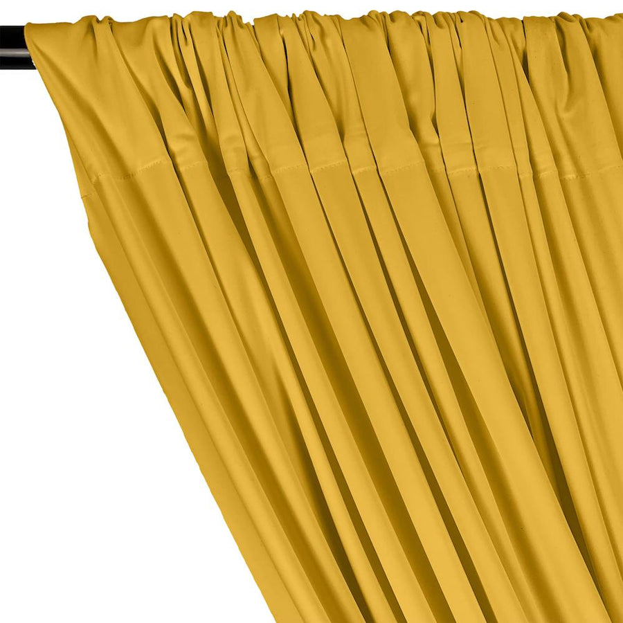 Matte Milliskin Rod Pocket Curtains - Sunflower Yellow