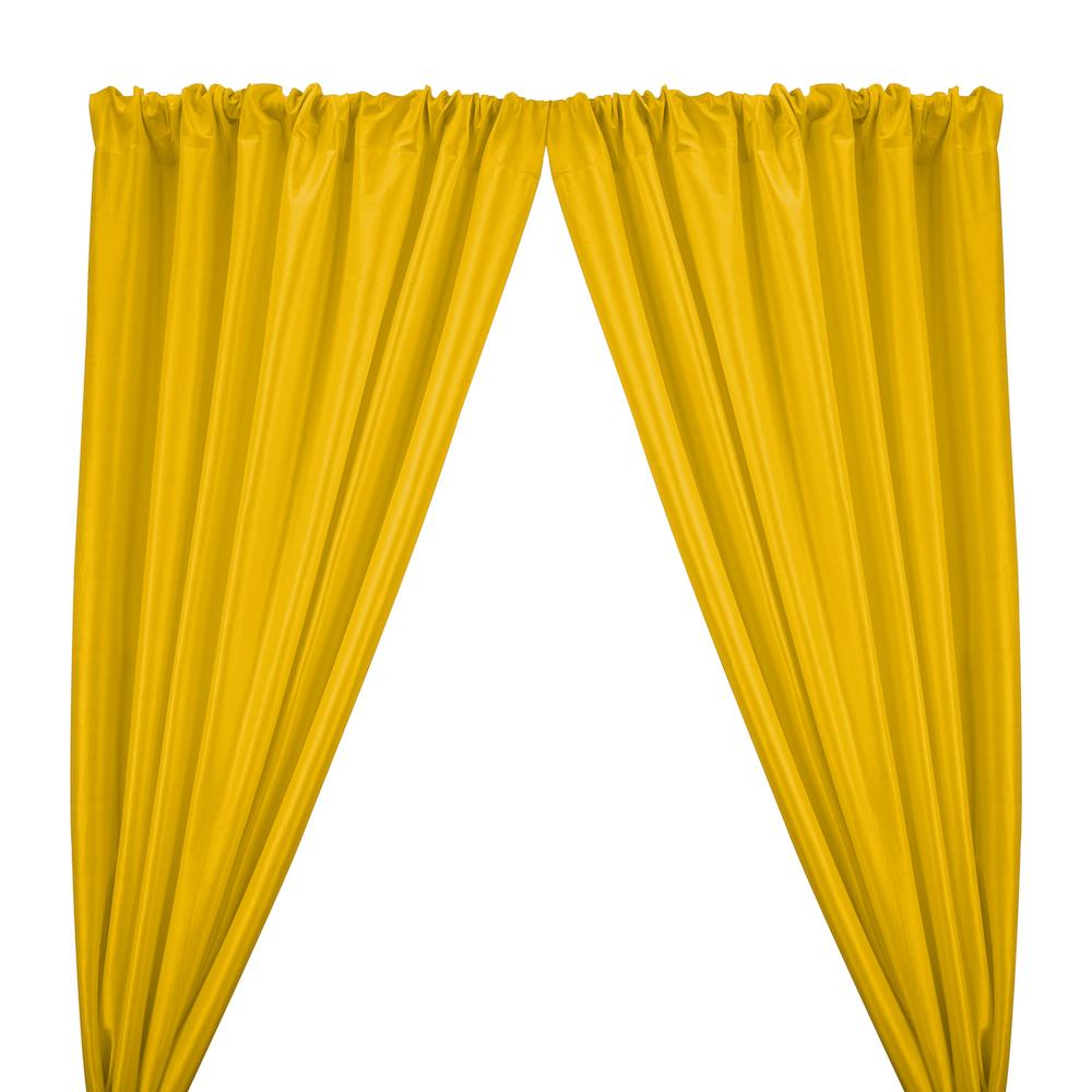 Stretch Taffeta Rod Pocket Curtains - Sunflower Yellow