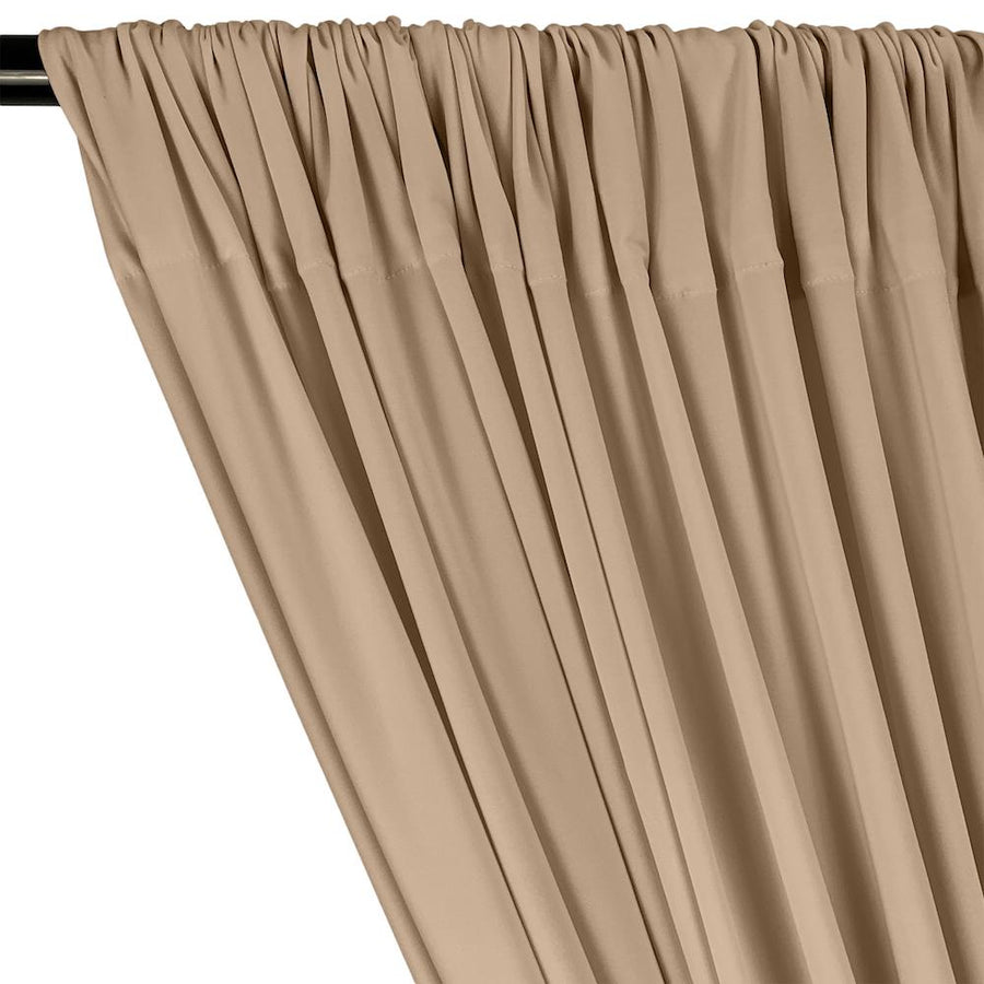 ITY Knit Stretch Jersey Rod Pocket Curtains - Tan