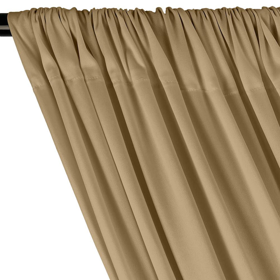 Interlock Knit Rod Pocket Curtains - Tan