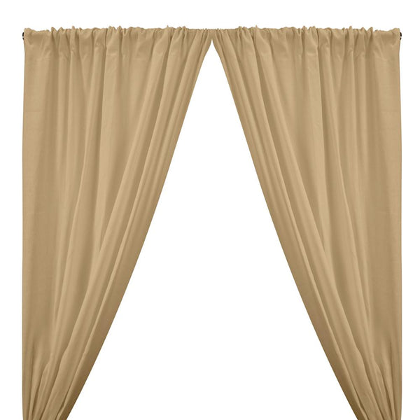 Natural Linen Rod Pocket Curtains - Natural