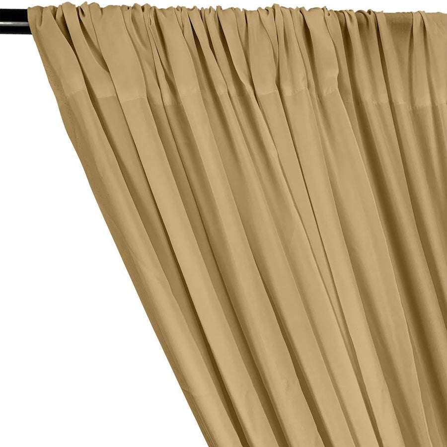 Rayon Challis Rod Pocket Curtains - Tan