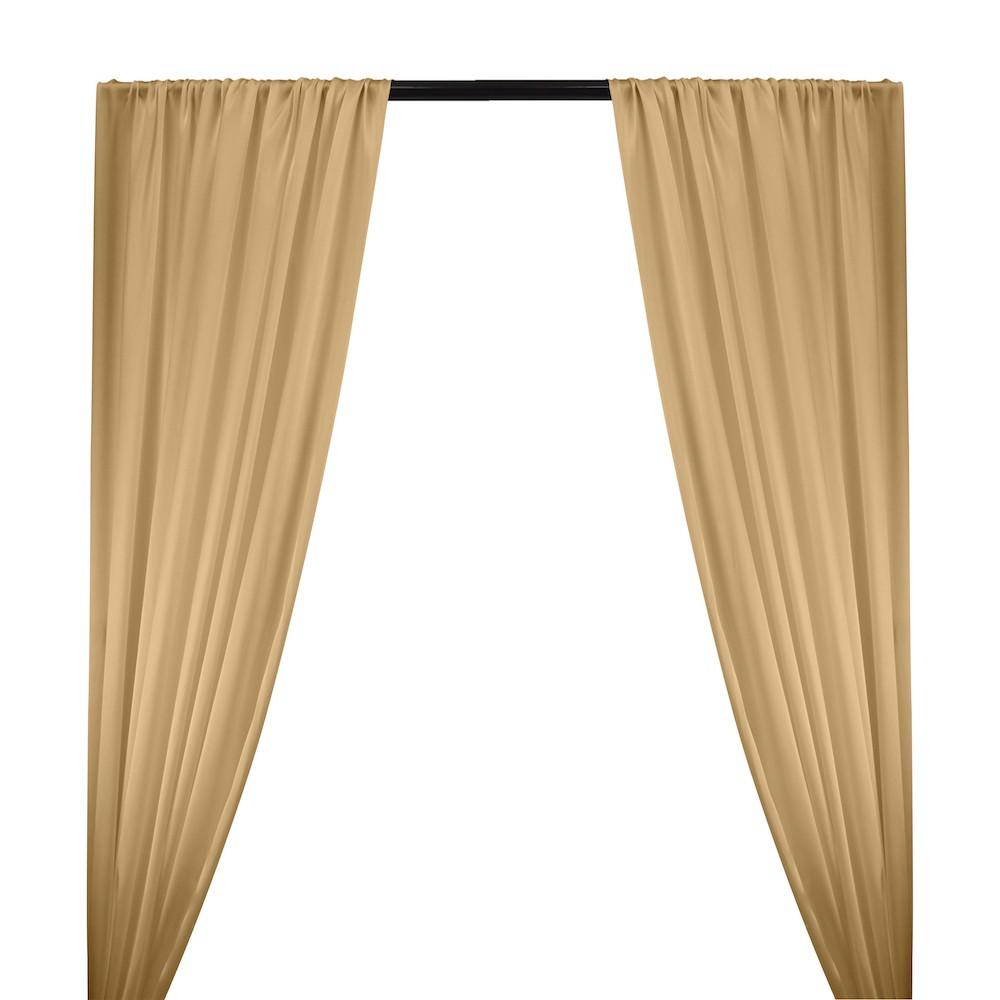 Silk Charmeuse Rod Pocket Curtains - Taupe