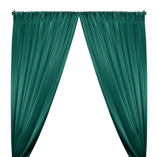 Crepe Back Satin Rod Pocket Curtains - Teal