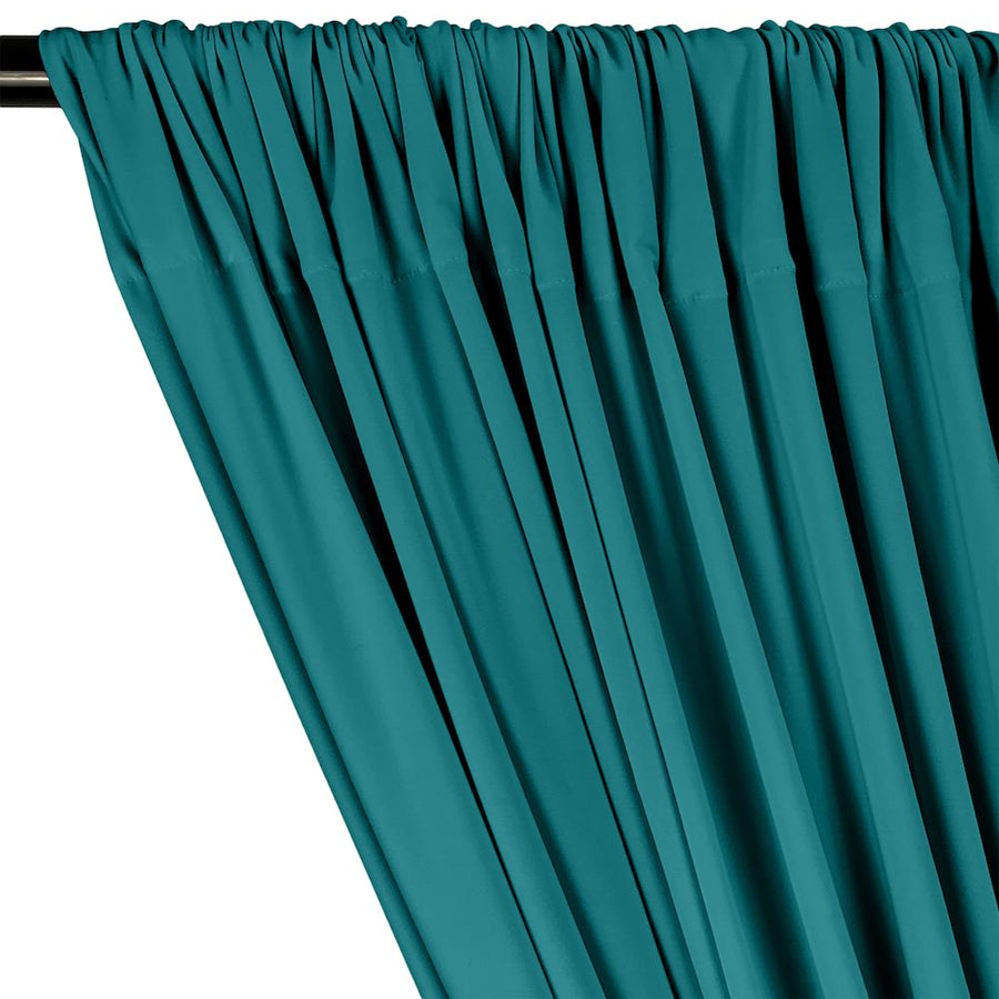 ITY Knit Stretch Jersey Rod Pocket Curtains - Teal