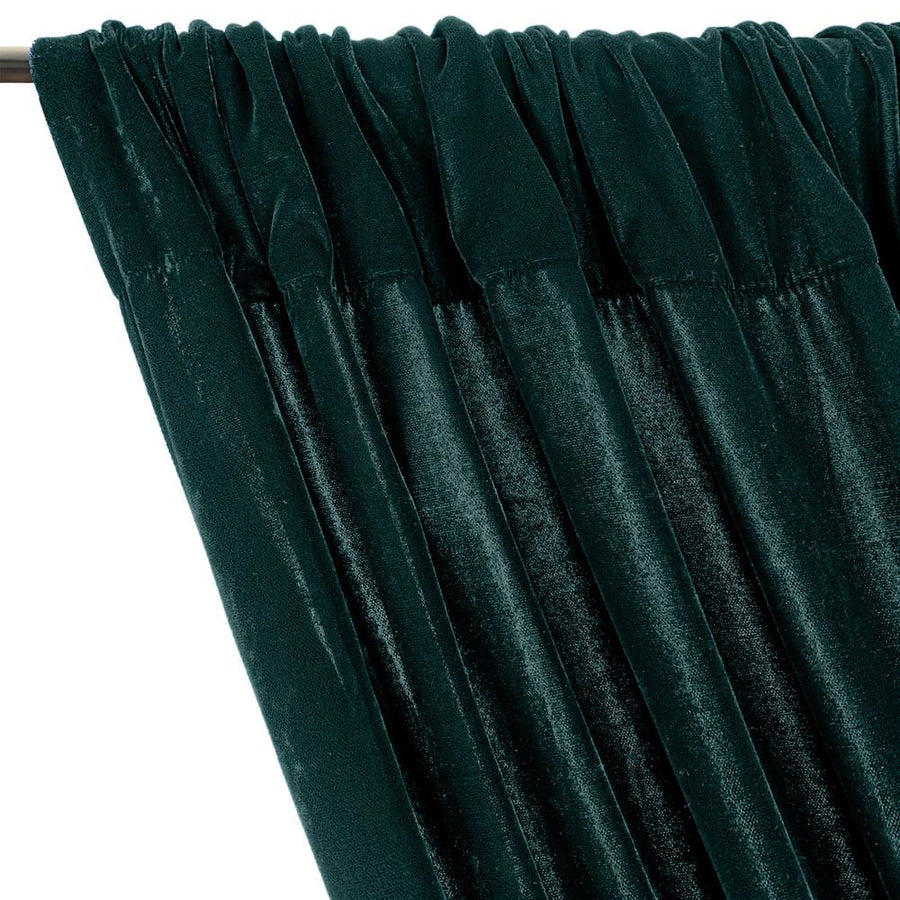 Micro Velvet Rod Pocket Curtains - Teal
