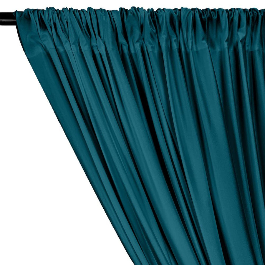 Shiny Milliskin Rod Pocket Curtains - Teal