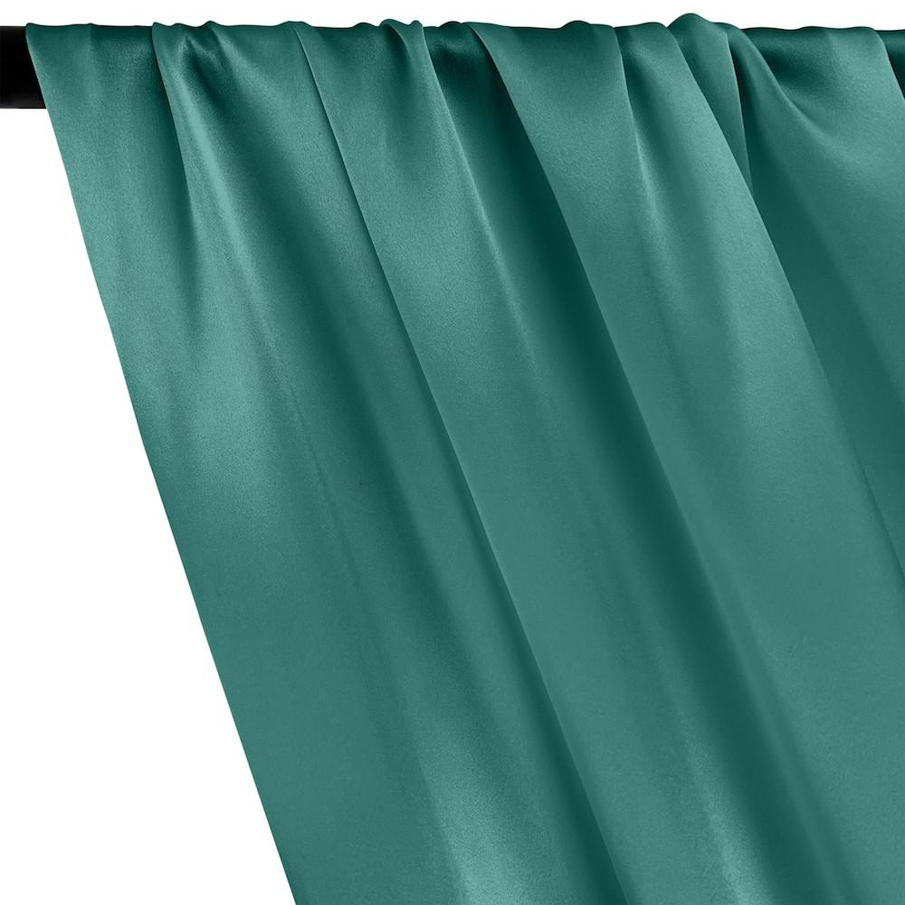 Silk Charmeuse Rod Pocket Curtains - Teal
