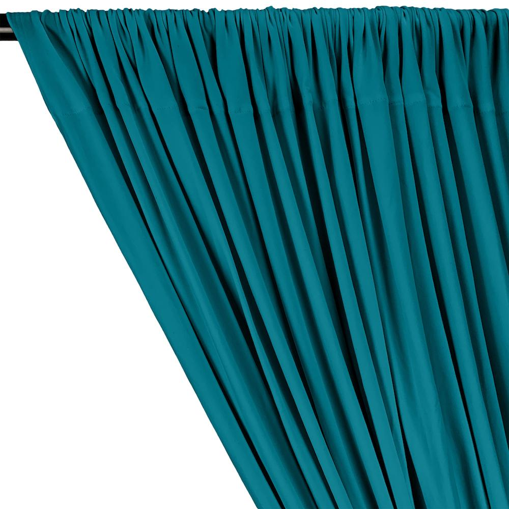 Turquoise DTY Double-Sided Brushed Fabric Curtains With