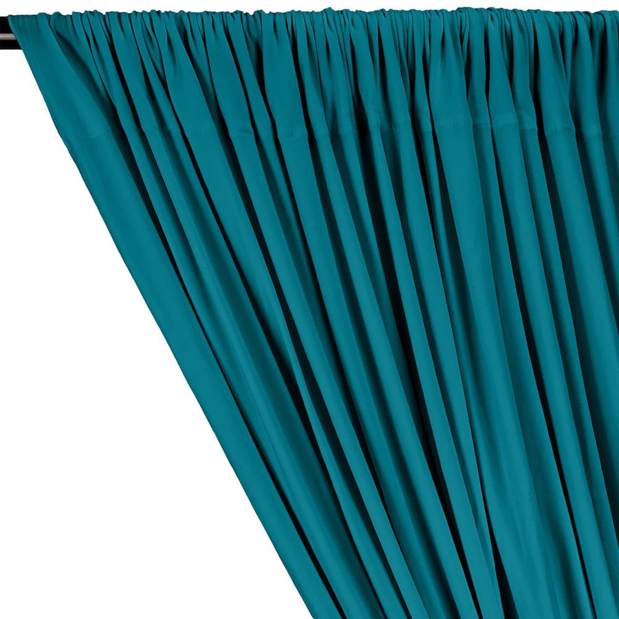 DTY Double-Sided Brushed Rod Pocket Curtains - Turquoise