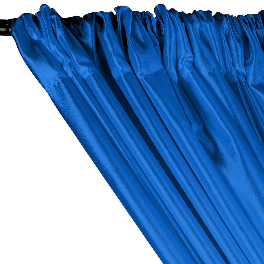 Extra Wide Nylon Taffeta Rod Pocket Curtains - Turquoise