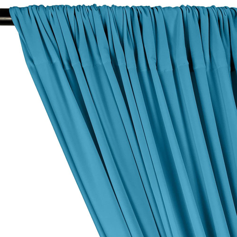 ITY Knit Stretch Jersey Rod Pocket Curtains - Turquoise