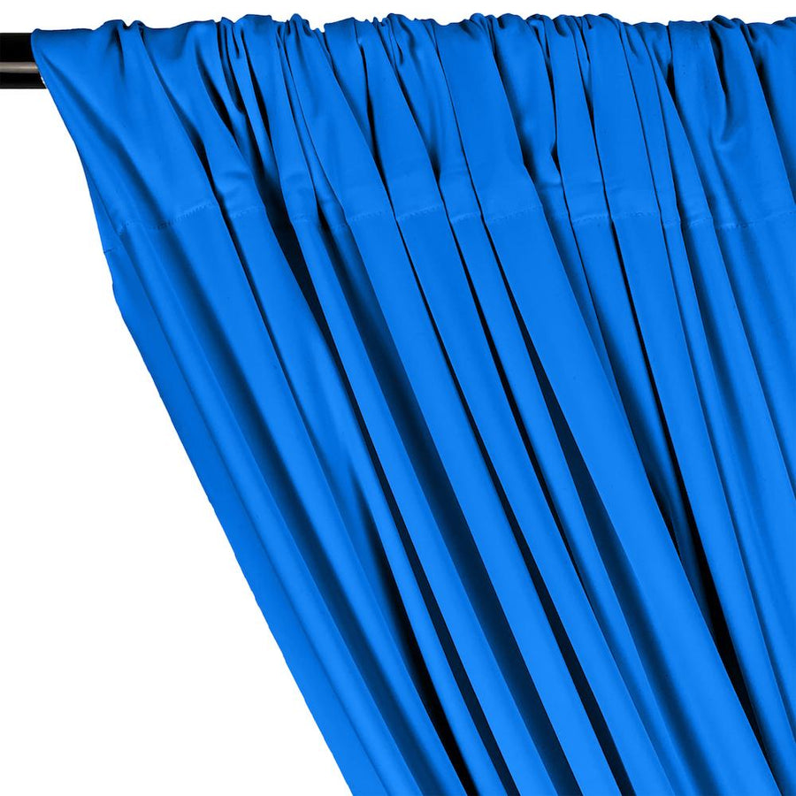 Matte Milliskin Rod Pocket Curtains - Turquoise