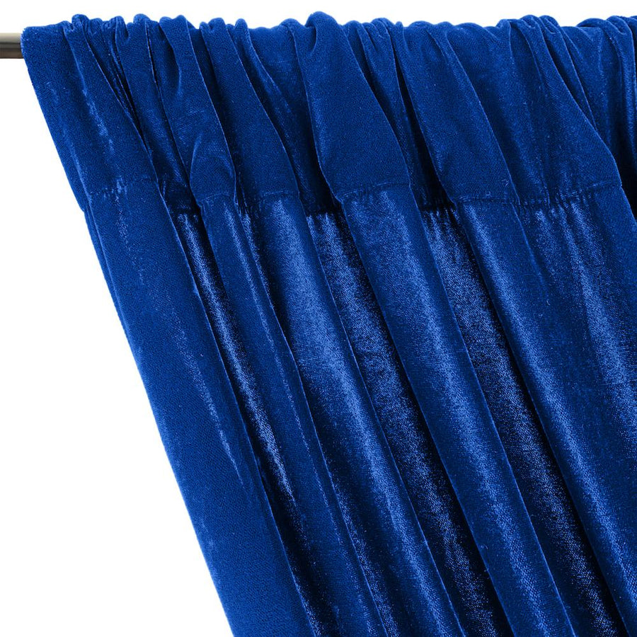 Micro Velvet Rod Pocket Curtains - Turquoise