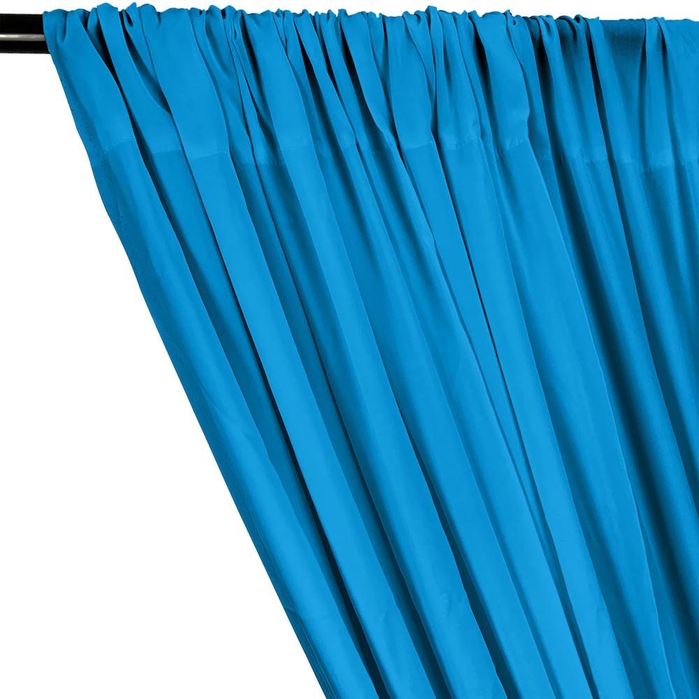 Rayon Challis Rod Pocket Curtains - Turquoise