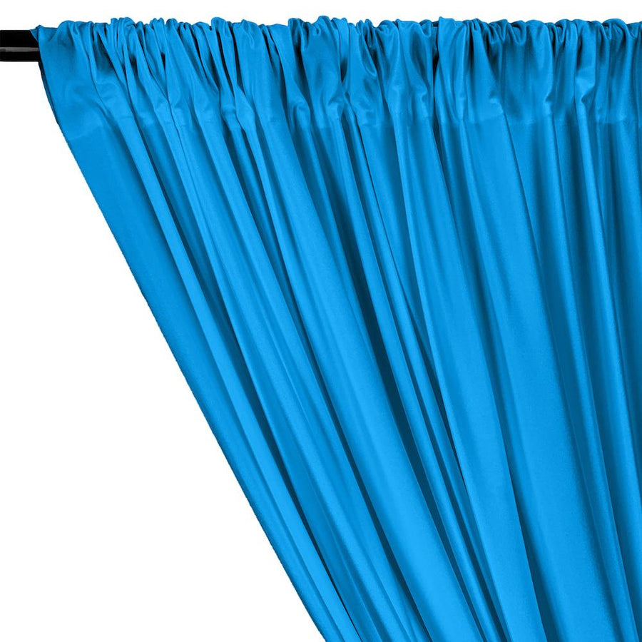 Shiny Milliskin Rod Pocket Curtains - Turquoise