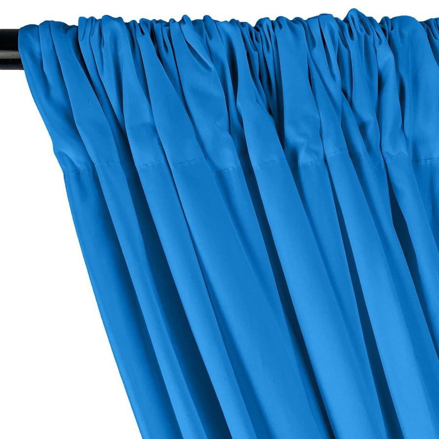 Stretch Broadcloth Rod Pocket Curtains - Turquoise