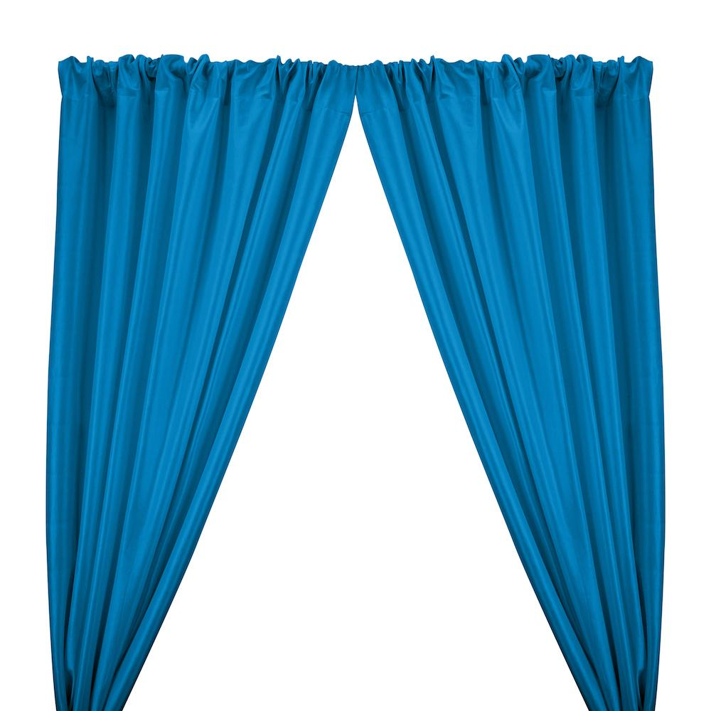 Stretch Taffeta Rod Pocket Curtains - Turquoise