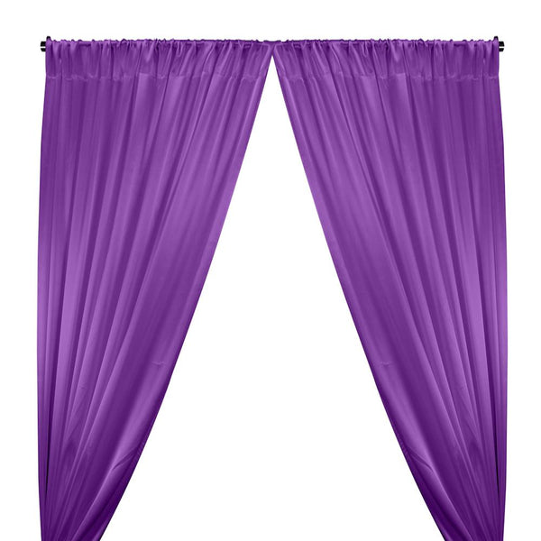 Crepe Back Satin Rod Pocket Curtains - Violet