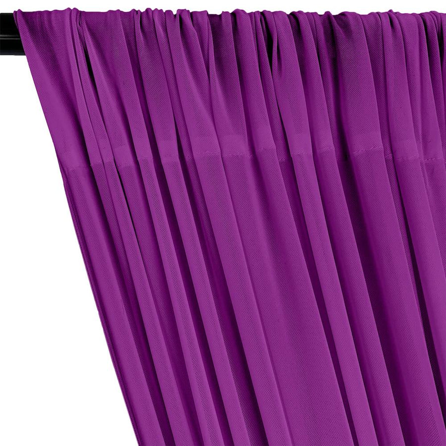 Power Mesh Rod Pocket Curtains - Violet