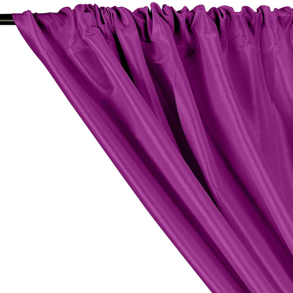 Stretch Taffeta Rod Pocket Curtains - Violet