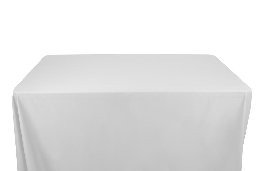 100% Cotton Broadcloth Banquet Rectangular Table Covers - 8 Feet