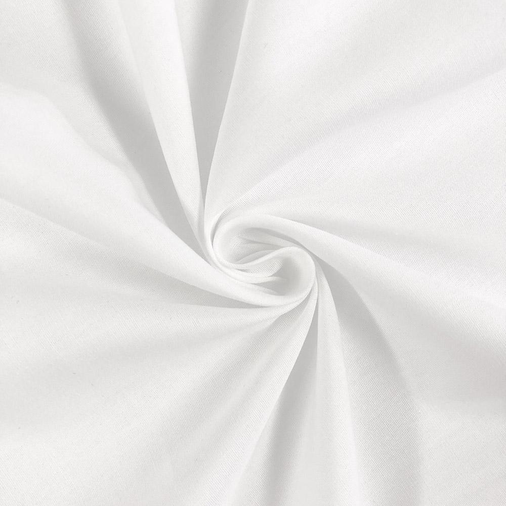 Cotton Polyester Broadcloth (60/40 Blend) - White